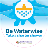 SDRC_Be Waterwise_Take a shorter shower