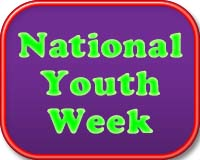 National Youth Week button