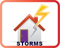 Storms button for web
