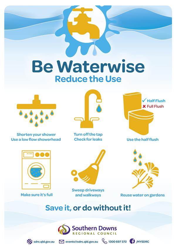 SDRC_Be Waterwise Reduce the Use_A4 Poster_WEB