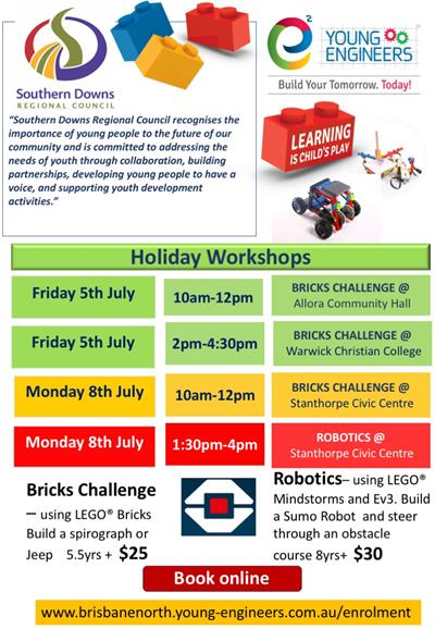 Young Engineers Holiday Workshops July
